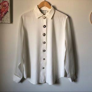 Vintage Maggie Lawrence button-up blouse - L/XL